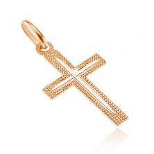 Križ izrađen od 14 karatnog zlata - udubljena površina sa tankim usjecima na krakovima