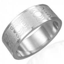 Prsten izrađen od 316L čelika sa sjajnom-mat površinom - motiv bube, 8 mm