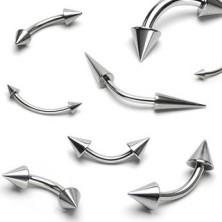 Osnovni prsten za obrve s dva šiljka, razne veličine