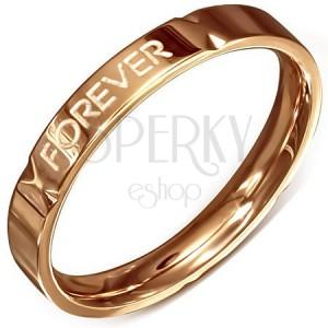 """Vjenčani prsten ružičasto-zlatne boje - čelik, """"Forever Love"""""""