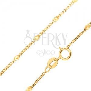 Zlatni lančić - male ovalne karike, elipsa s trokutima