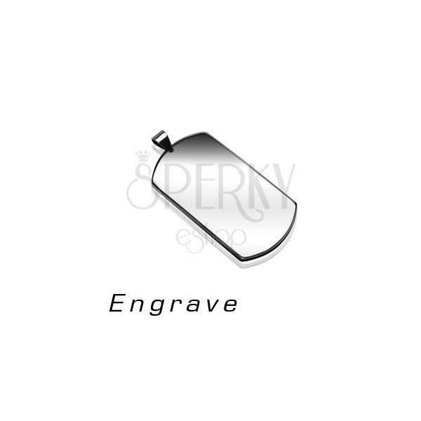 Privjesak od nehrđajućeg čelika - PLOČICA ZA PSA, srebrna boja