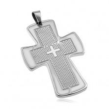 Privjesak od kirurškog čelika - veliki križ