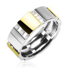 Čelični prsten s zlatnim dijelovima