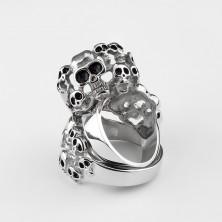 Prsten od nehrđajućeg čelika s 10 lubanja