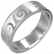 Prsten od nehrđajućeg čelika sa spiralnim uzorkom
