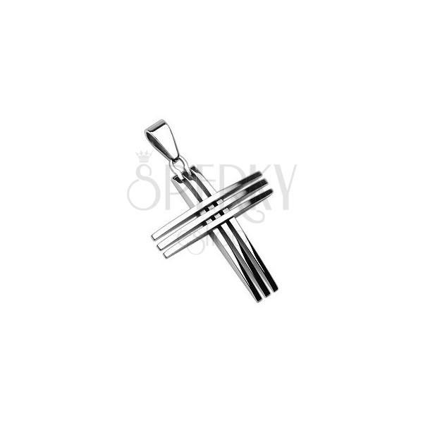 Privjesak od nehrđajućeg čelika - križ koji se sastoji od tankih ukrštenih linija