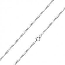 14K lančić od bijelog zlata - gusto spojene karike, uzorak zmijske kože, 450 mm