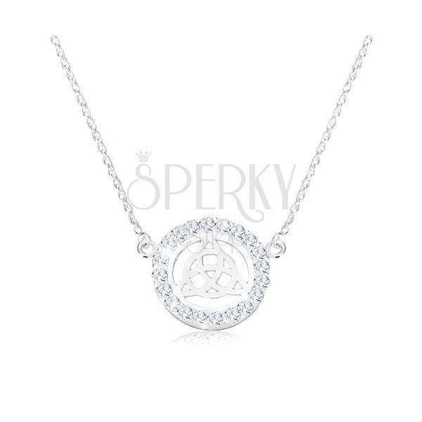 925 srebrna ogrlica - keltski čvor, spiralni lančić