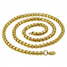 Lančić od 316L čelika zlatne boje, sjajne ovalne karike, 620 mm