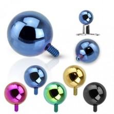 316L čelična ugradbena loptica - anodirana površina, različite boje, 5 mm