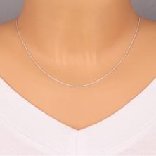 925 srebrni lančić - okomito spojene karike, plosnati krugovi, 1,3 mm