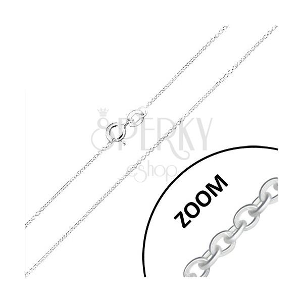 925 srebrni lančić - okomito spojene male okrugle karike, 0,9 mm