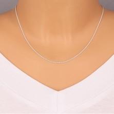 925 srebrni lančić - uvijene ovalne karike serijski povezane, 1,3 mm