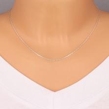 925 srebrni lančić - okrugle karike sa brušenim svjetlucavim rubovima, 1,1 mm