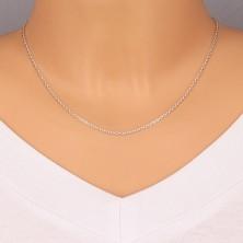 925 srebrni lančić - okomito spojene ovalne karike, 1,7 mm