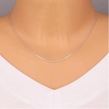 925 srebrni lančić - okomito spojene ovalne karike, 1,5 mm