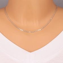 925 srebrni lančić - sjajne ovalne karike okomito spojene, 2,2 mm
