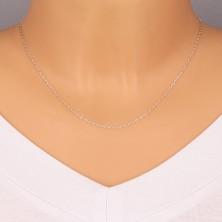 925 srebrni sjajni lančić - okomito spojene plosnate ovalne karike, 1,4 mm