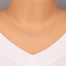 Srebrni lančić, elegantne uvijene alkice, 1,7 mm