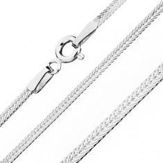 925 srebrni lančić, plosnato dijagonalno položene karike, širina 1,8 mm, duljina 550 mm