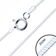 Tanki kvadratni lančić, 925 srebro, širina 0,6 mm, duljina 500 mm