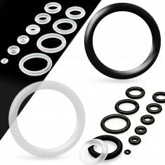 Rezervni silikonski prstenovi za tunel ili čep, prozirne boje