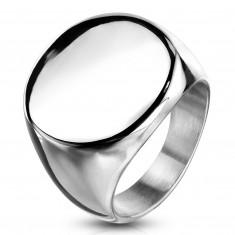 Prsten od nehrđajućeg čelika, ravni sjajni krug, srebrne boje