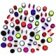Neonski lažni čepić - različite veličine