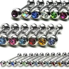 Piercing za jezik sa cirkonom u raznim bojama