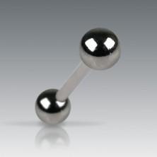 Piercing za jezik s tamnijim mat kuglicama