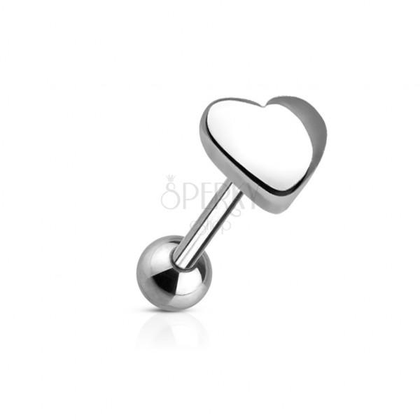 Piercing za jezik s velikim srcem