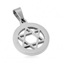 Privjesak od nehrđajućeg čelika, Davidova zvijezda u krugu