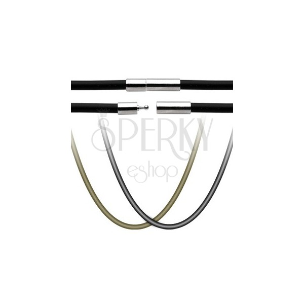 Gumena ogrlica - kopčica za zatvaranje od nehrđajućeg čelika